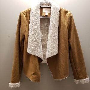 Jackets & Blazers - NWT faux-suede Shearling Jacket